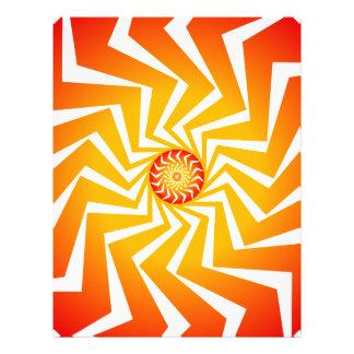 Psychedelisches gewundenes Muster: Vektorkunst: 21,6 X 27,9 Cm Flyer