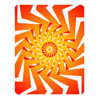 Psychedelisches gewundenes Muster: Vektorkunst: Vollfarbige Flyer