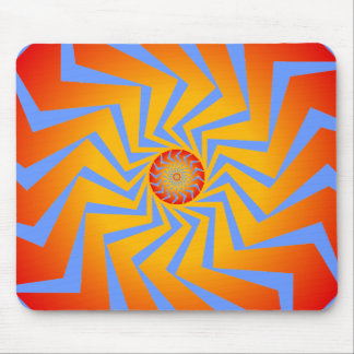 Psychedelisches gewundenes Muster: Vektorkunst: Mauspad