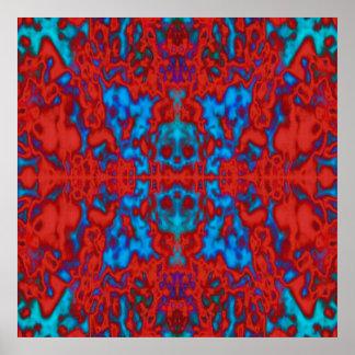 Psychedelisches Kaleidoskopmuster Poster