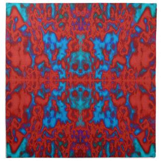 Psychedelisches Kaleidoskopmuster Serviette