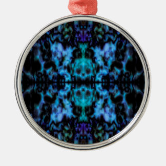 Psychedelisches Kaleidoskopmuster Silbernes Ornament
