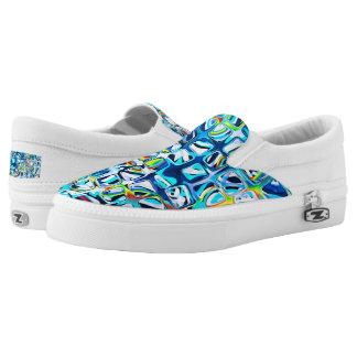 psychedelisches kleines buntes Blau berechnet #2 Slip-On Sneaker