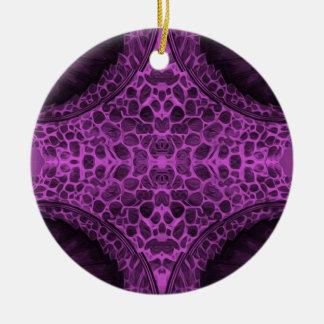 Psychedelisches Lila Keramik Ornament