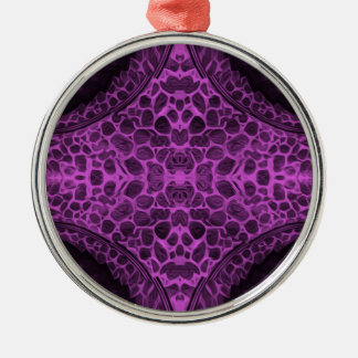Psychedelisches Lila Silbernes Ornament