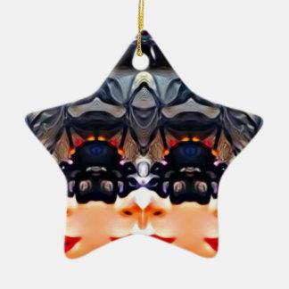 Psychedelisches Mädchen Keramik Ornament