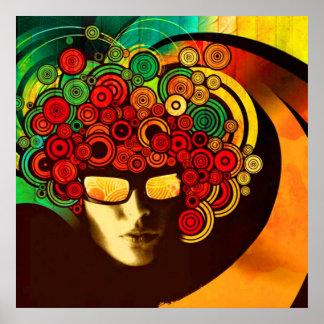 psychedelisches Popkunstplakat VON 8,99 Plakat