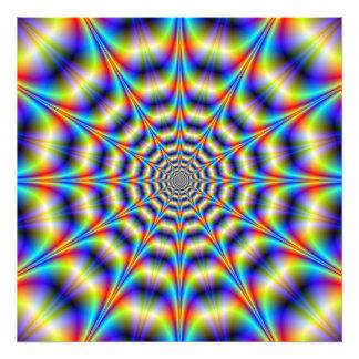 Psychedelisches Rad Fotodruck