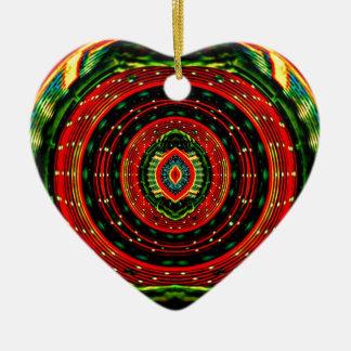 Psychedelisches Rasta Keramik Ornament