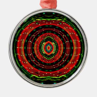 Psychedelisches Rasta Silbernes Ornament