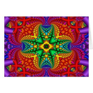 Psychedelisches Regenbogen-Fraktal Karte