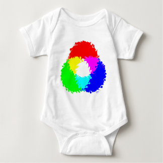 Psychedelisches RGB-Farbmodell Baby Strampler