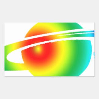 Psychedelisches Saturn Rechteckiger Aufkleber