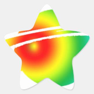 Psychedelisches Saturn Stern-Aufkleber