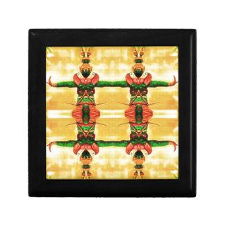 Psychedelisches Schutz-Gelbgrün Geschenkbox