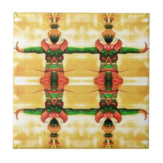 Psychedelisches Schutz-Gelbgrün Keramikfliese