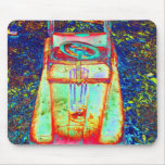 psychedelisches Spielzeugauto Mousepads