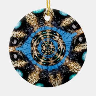 Psychedelisches Spinnen-Portal Keramik Ornament