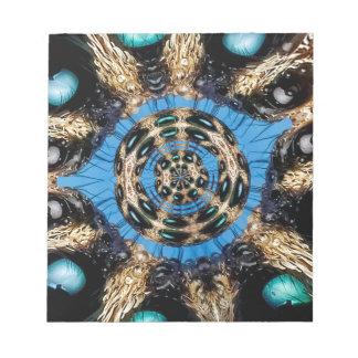 Psychedelisches Spinnen-Portal Notizblock