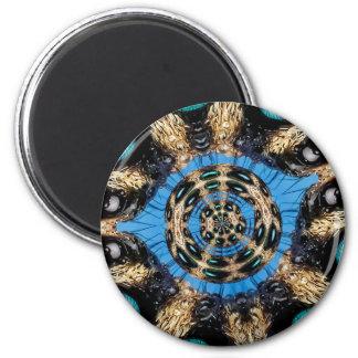 Psychedelisches Spinnen-Portal Runder Magnet 5,7 Cm