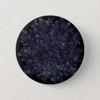 psychedelisches violettes 3d und aquamarin runder button 5,7 cm