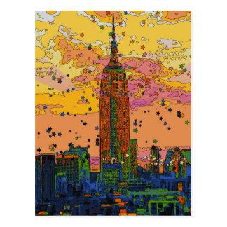 Psychedlic NYC: Reich-Staats-Gebäude #1 Postkarte