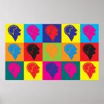 Psychiatrie-Pop-Kunst Plakatdrucke