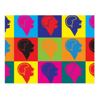 Psychiatrie-Pop-Kunst Postkarte