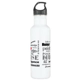 Psychiatrische Krankenschwester-Attribute/rotes Trinkflasche