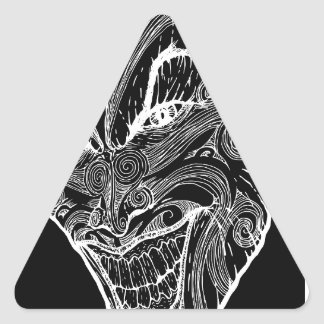Psychisch Dreieckiger Aufkleber