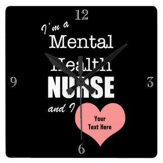 Psychische Gesundheiten Krankenpflege-Fertigen Quadratische Wanduhr