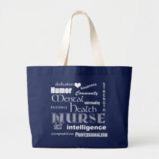 Psychische Gesundheiten Krankenschwester-Attribute Jumbo Stoffbeutel