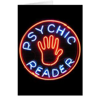 Psychische Leser-Leuchtreklame Karte