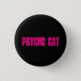 Psychischer Katzen-Knopf Runder Button 2,5 Cm