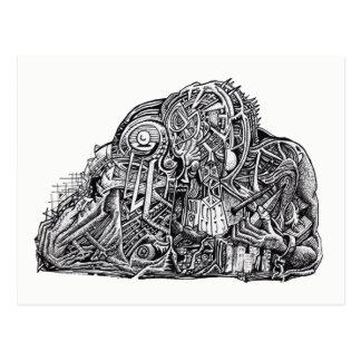 Psychischer Krieger, durch Brian Benson, Postkarte