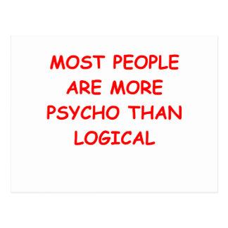 psychisches logisches postkarte