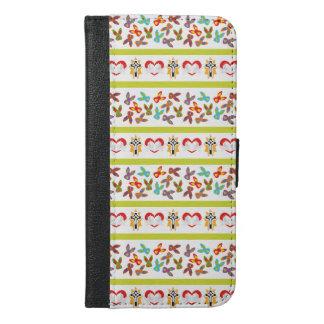 Psychisches Ostern-Muster bunt iPhone 6/6s Plus Geldbeutel Hülle