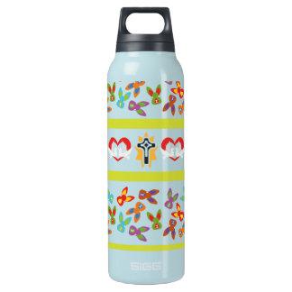 Psychisches Ostern-Muster bunt Isolierte Flasche