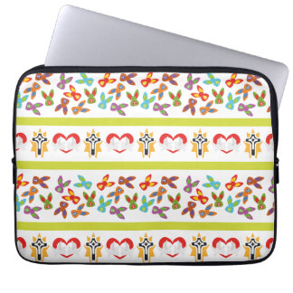 Psychisches Ostern-Muster bunt Laptop Sleeve