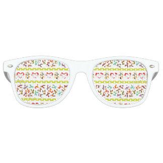 Psychisches Ostern-Muster bunt Partybrille
