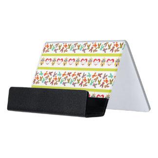 Psychisches Ostern-Muster bunt Schreibtisch-Visitenkartenhalter