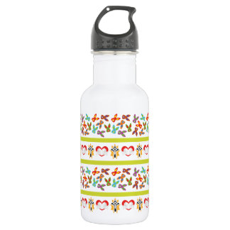 Psychisches Ostern-Muster bunt Trinkflasche