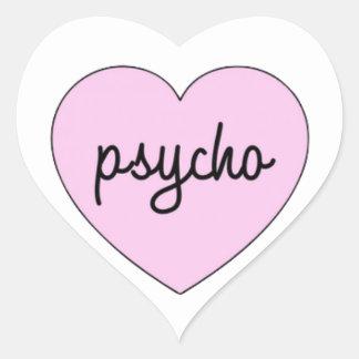 Psycho Herz-Aufkleber
