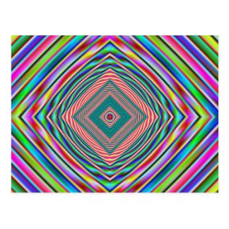 psychodelic Regenbogen Postkarte