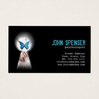 Psychologe-blauer Schmetterling von der Visitenkarte