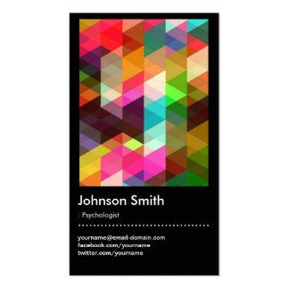 Psychologe - buntes Mosaik-Muster Visitenkarten
