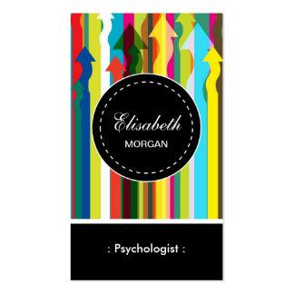 Psychologe-buntes Streifen-Muster Visitenkarten