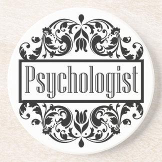 Psychologe-Damast Getränkeuntersetzer