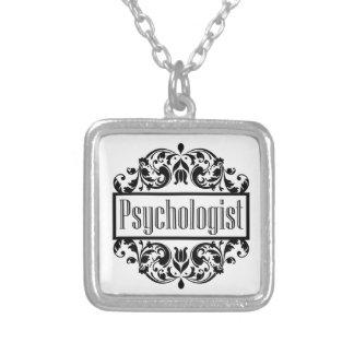 Psychologe-Damast Versilberte Kette