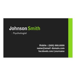 Psychologe - modernes unbedeutendes Grün Visitenkarten